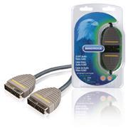 SCART Kabel SCART Male - SCART Male 2.00 m Blauw