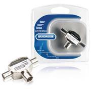 Coax-Adapter 2x Coaxconnector Male (IEC) - Coax Female (IEC) Zilver