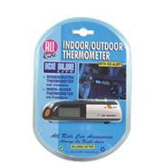 Binnen/Buiten Autothermometer Zwart/Grijs