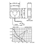 Axiaal Ventilator DC 60 x 60 x 25 mm