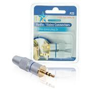 Stereoconnector 3.5 mm Male Zilver
