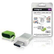 USB Stick USB 3.0 32 GB Aluminium/Groen