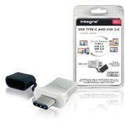 USB Stick USB 3.0 64 GB Aluminium/Zwart