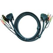KVM Kabel DVI-D 18+1-Pins Male / USB A Male / 2x 3.5 mm Male - DVI-D 18+1-Pins Male / USB A Male / 2x 3.5 mm Male 1.8 m