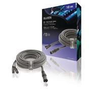 XLR Stereokabel XLR 3-Pins Male - 2x RCA Male 10.0 m Donkergrijs