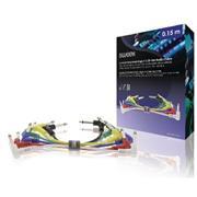 Mono Audiokabel 6.35 mm Male - 6.35 mm Male 0.15 m Donkergrijs