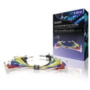 Mono Audiokabel 6.35 mm Male - 6.35 mm Male 0.30 m Donkergrijs