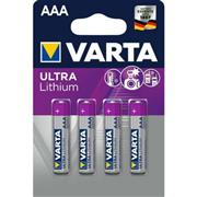 Lithium Batterij AAA 4-Blisterkaart