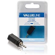 Stereo-Audio-Adapter 2.5 mm Male - 3.5 mm Female Zwart