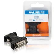 VGA-Adapter VGA Male - DVI-I 24+5-Pins Female Zwart
