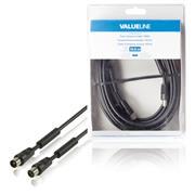 100 dB Coaxkabel Coax Male (IEC) - Coax Female (IEC) 10.0 m Zwart
