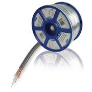 Coaxkabel op Haspel COAX 12 7.0 mm 100 m Grijs