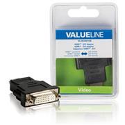 High Speed HDMI met Ethernet Adapter HDMI-Connector - DVI-D 24+1-Pins Female Zwart