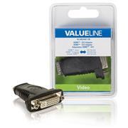 High Speed HDMI met Ethernet Adapter HDMI Female - DVI-D 24+1-Pins Female Zwart