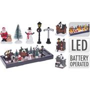 VILLAGE WITH LED | SET OF 10 PCS