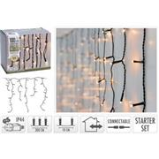 CONNECTABLE CHRISTMAS ICICLE LIGHTS | STARTER SET | 100 LED | WARM WHITE | 230 V