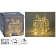 GIFT BOX | ACRYLIC | 15 CM | 30 LED | WARM WHITE