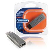DisplayPort Adapter DisplayPort Male - HDMI Male Grijs