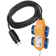 Verlengkabel 5.00 m H07RN-F 3G1.5 IP44 Geel