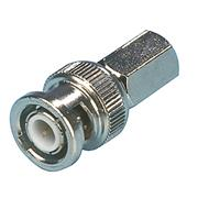Verloopstekker CCTV-Security BNC 6.8 mm Male Zilver