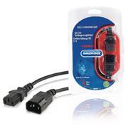 Stroom Verlengkabel IEC-320-C14 - IEC-320-C13 5.00 m Zwart