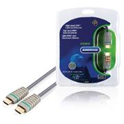 High Speed HDMI kabel met Ethernet HDMI-Connector - HDMI-Connector 5.00 m Blauw