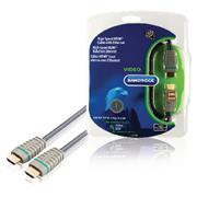 High Speed HDMI kabel met Ethernet HDMI-Connector - HDMI-Connector 10.0 m Blauw