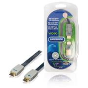 High Speed HDMI kabel met Ethernet Plat HDMI-Connector - HDMI-Connector 0.50 m Blauw